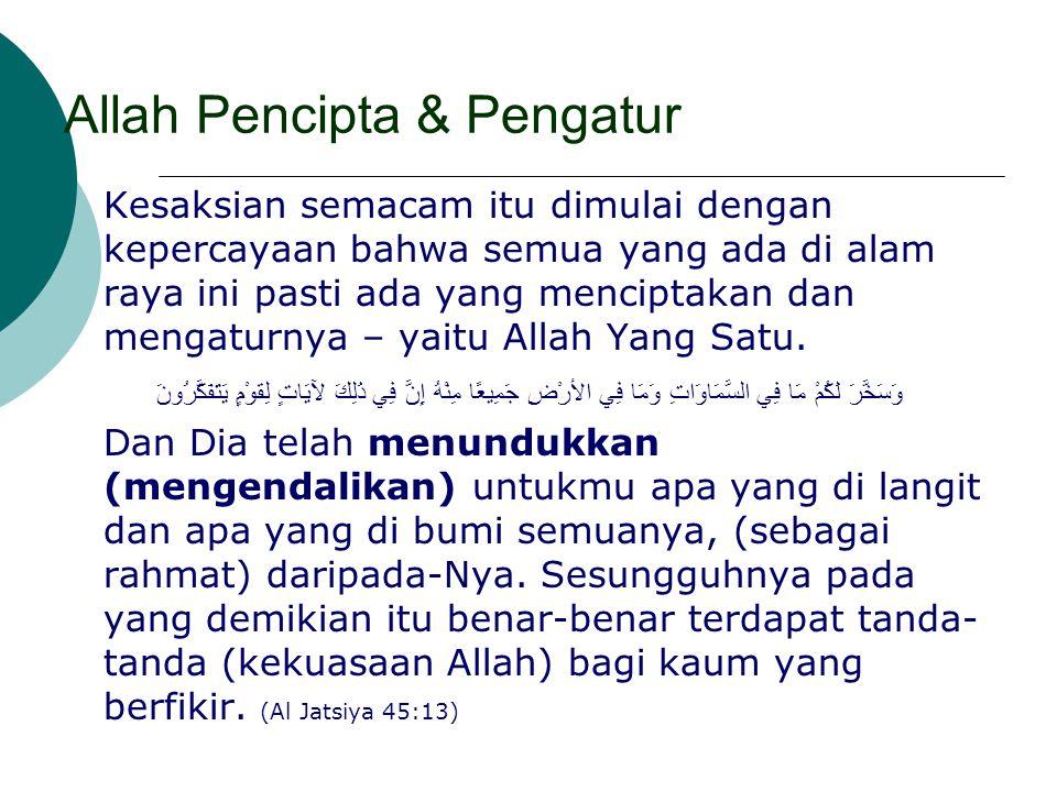 Allah Pencipta & Pengatur