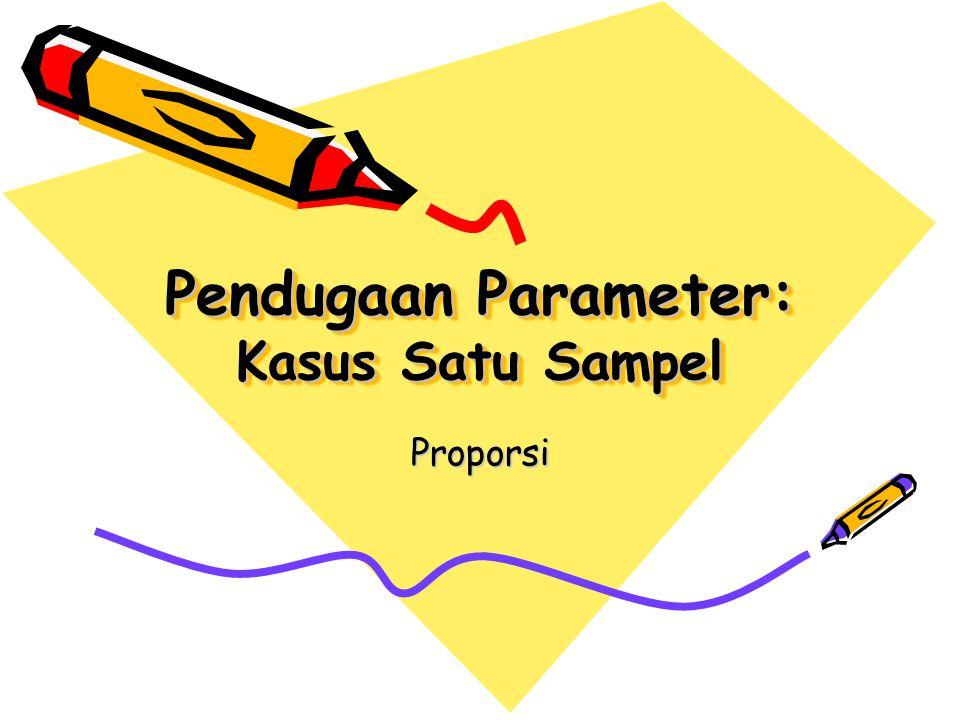 Pendugaan Parameter: Kasus Satu Sampel