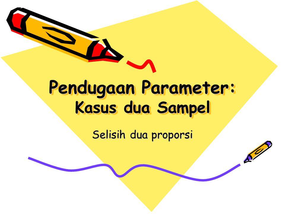 Pendugaan Parameter: Kasus dua Sampel