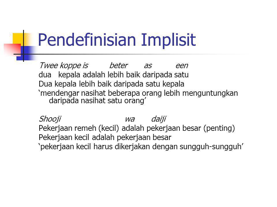 Pendefinisian Implisit