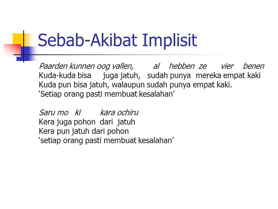 Sebab-Akibat Implisit