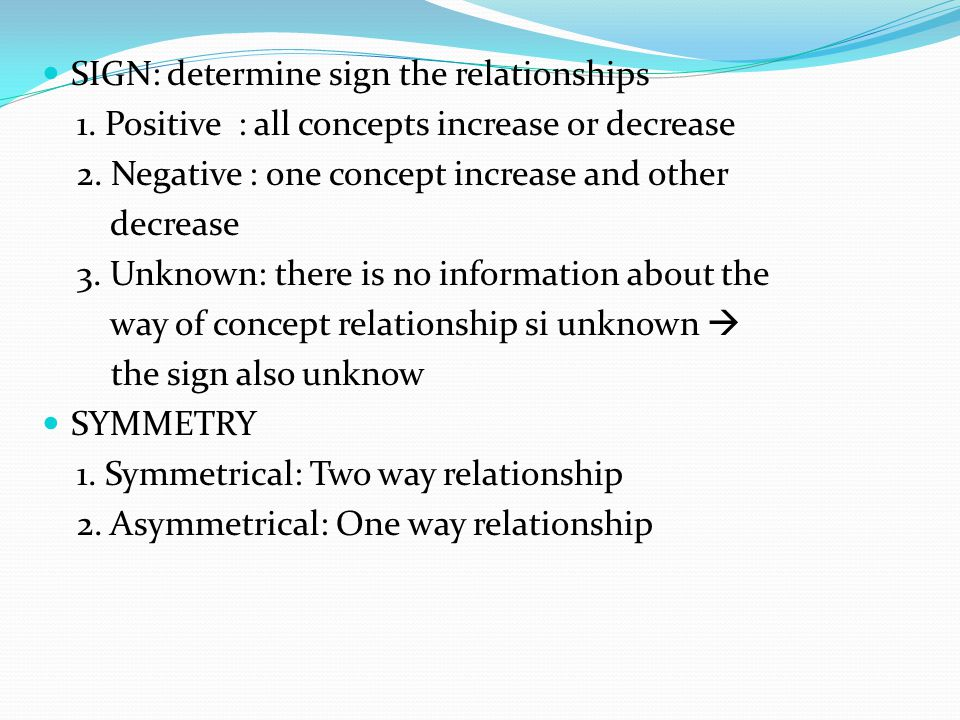 SIGN: determine sign the relationships