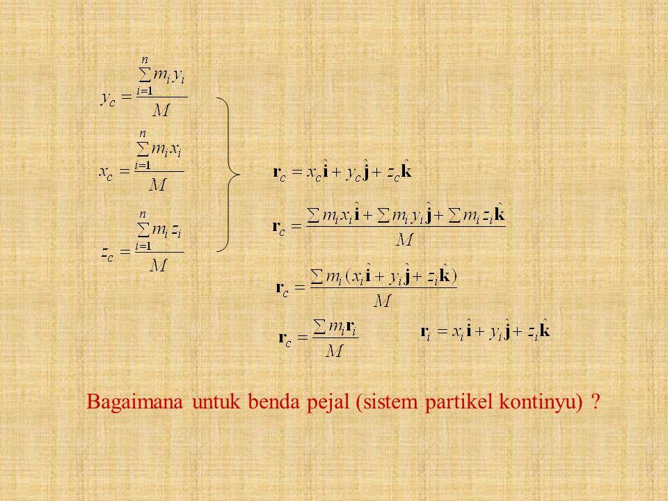 Bagaimana untuk benda pejal (sistem partikel kontinyu)