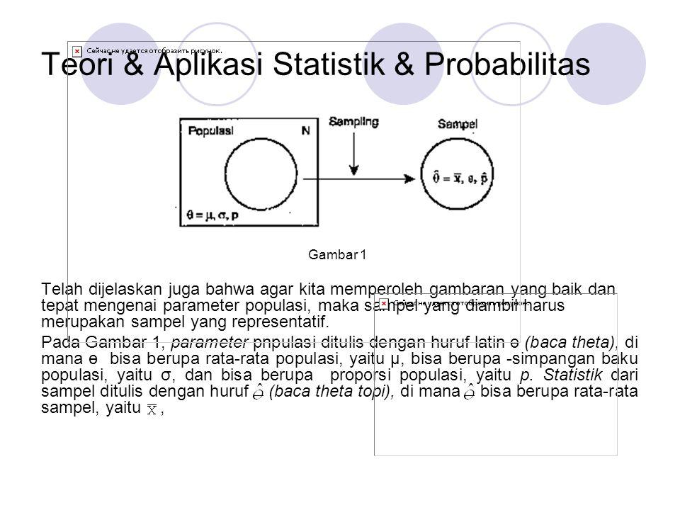 Teori & Aplikasi Statistik & Probabilitas