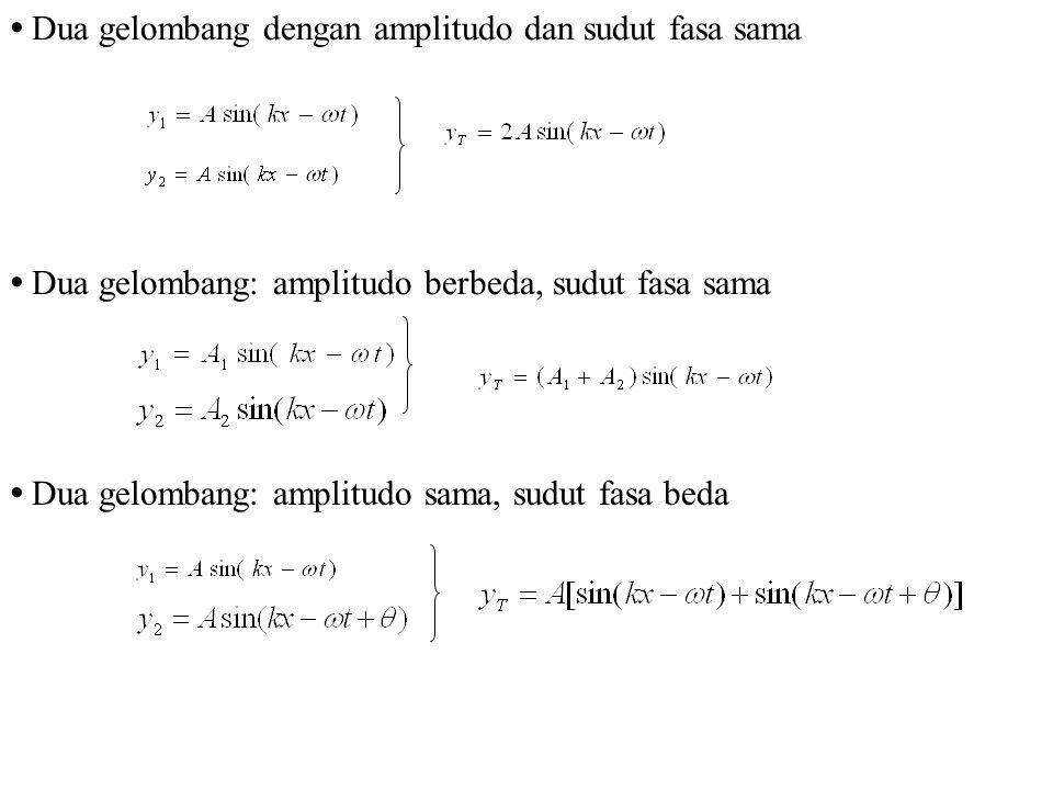 Dua gelombang dengan amplitudo dan sudut fasa sama
