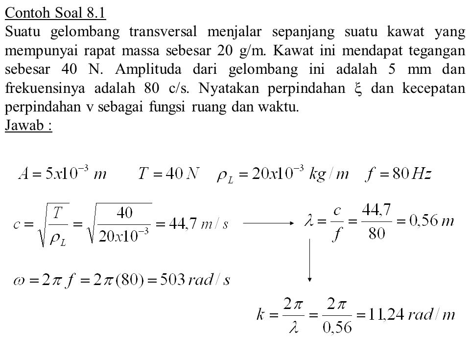 Contoh Soal 8.1