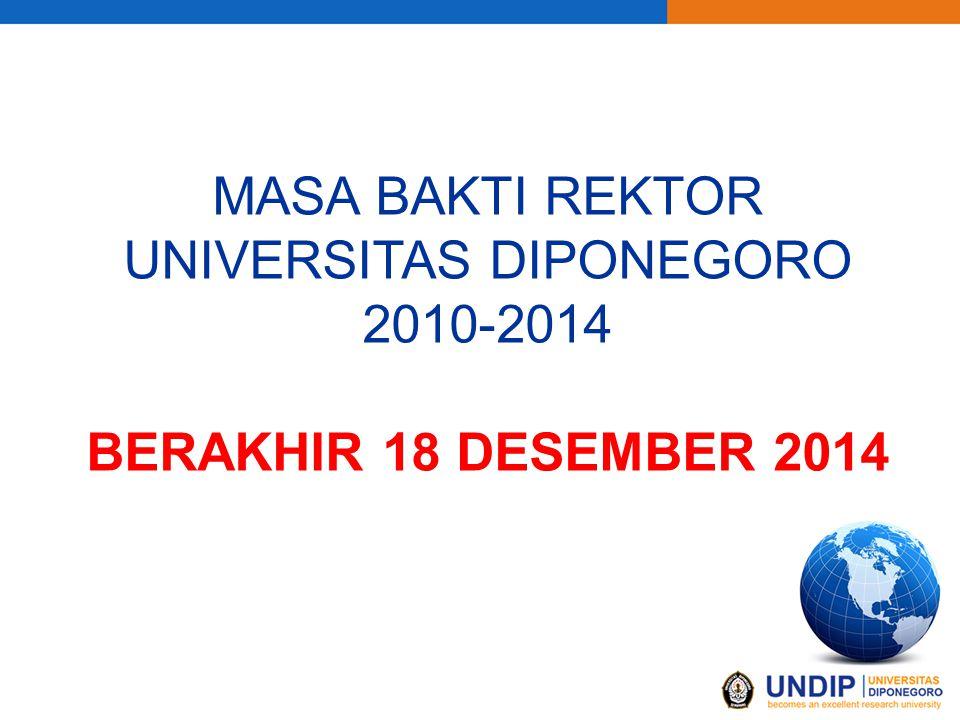 MASA BAKTI REKTOR UNIVERSITAS DIPONEGORO 2010-2014