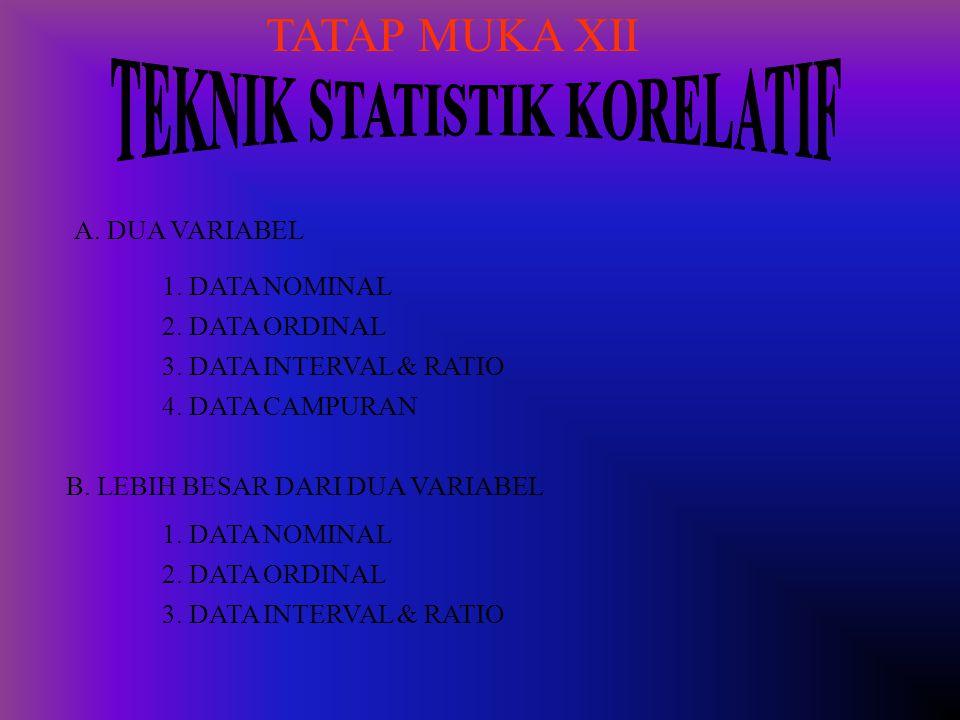 TEKNIK STATISTIK KORELATIF