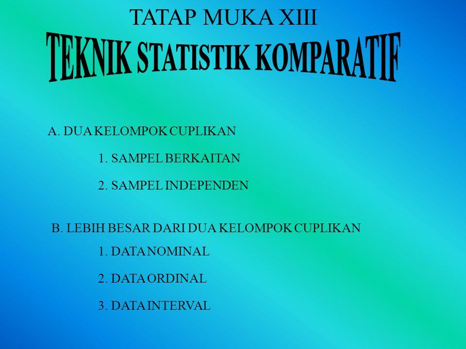 TEKNIK STATISTIK KOMPARATIF