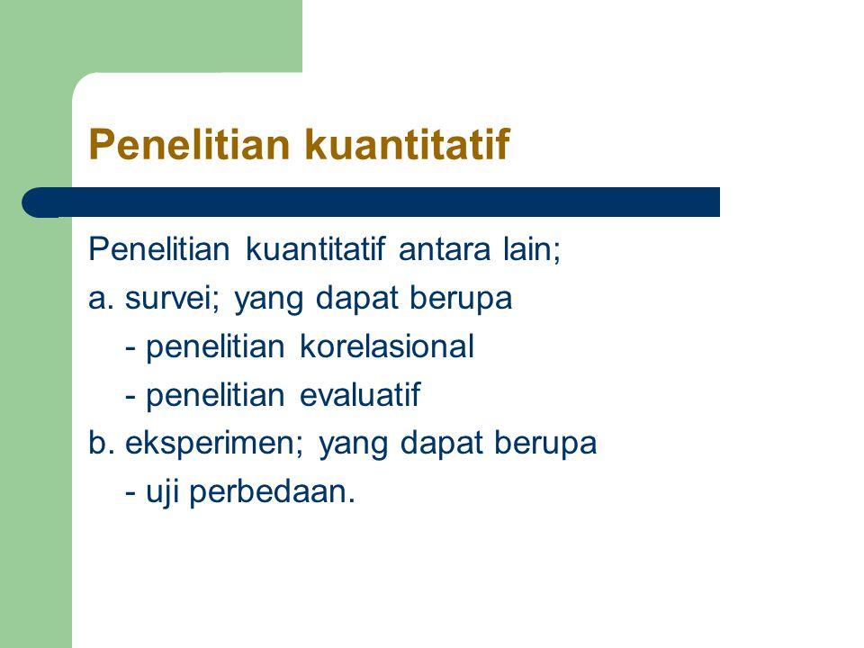 Penelitian kuantitatif