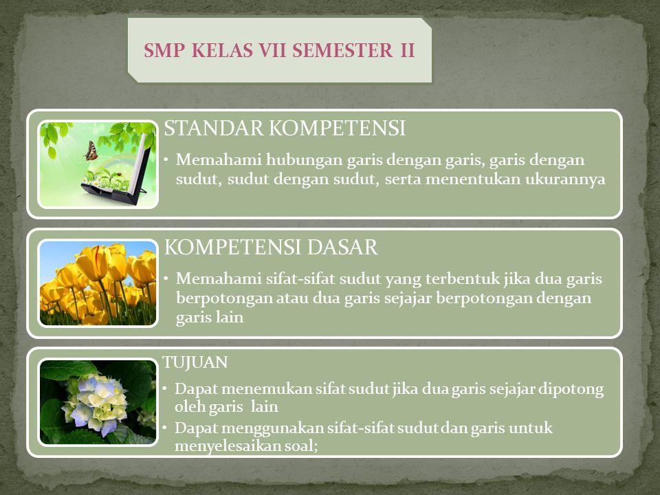 SMP KELAS VII SEMESTER II