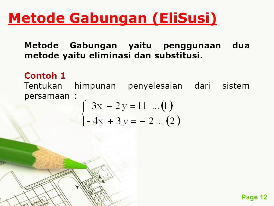 Metode Gabungan (EliSusi)