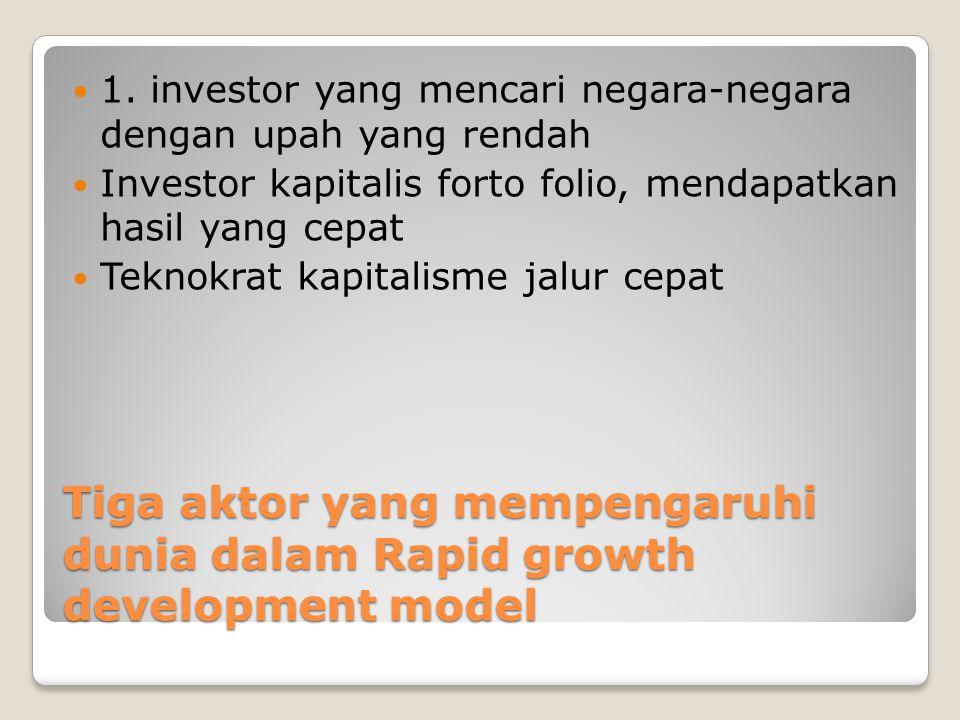 1. investor yang mencari negara-negara dengan upah yang rendah