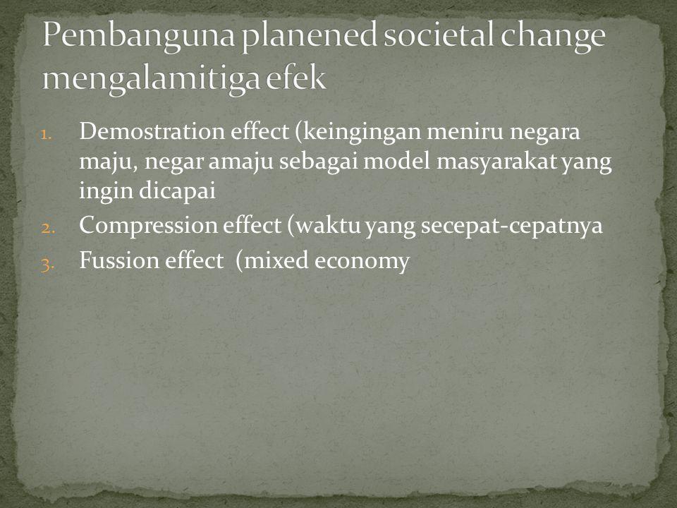 Pembanguna planened societal change mengalamitiga efek