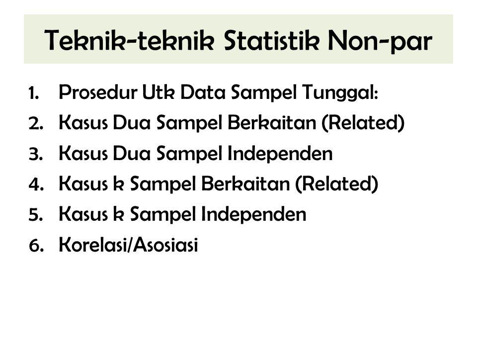 Teknik-teknik Statistik Non-par