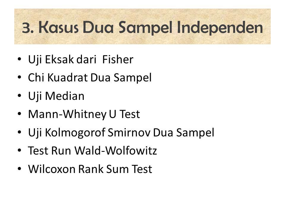 3. Kasus Dua Sampel Independen