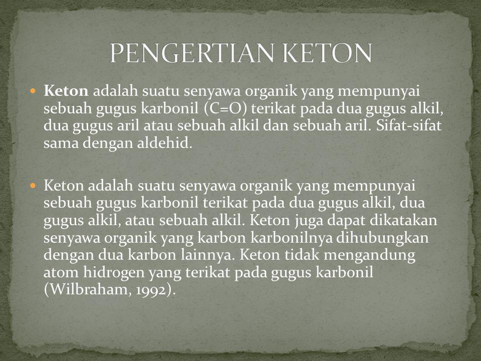 PENGERTIAN KETON