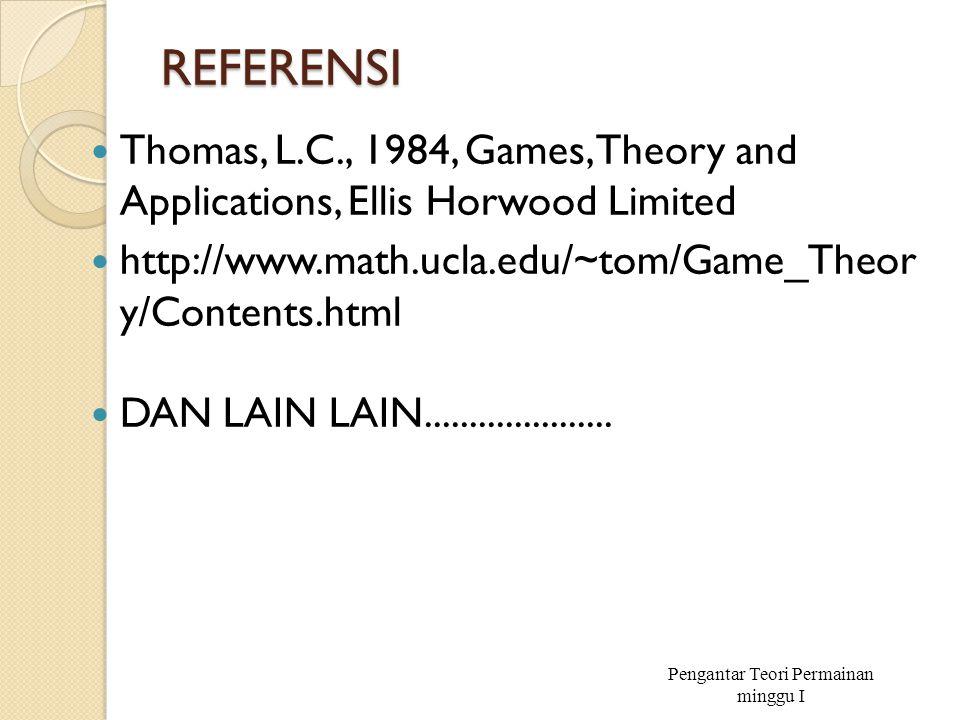 Pengantar Teori Permainan minggu I