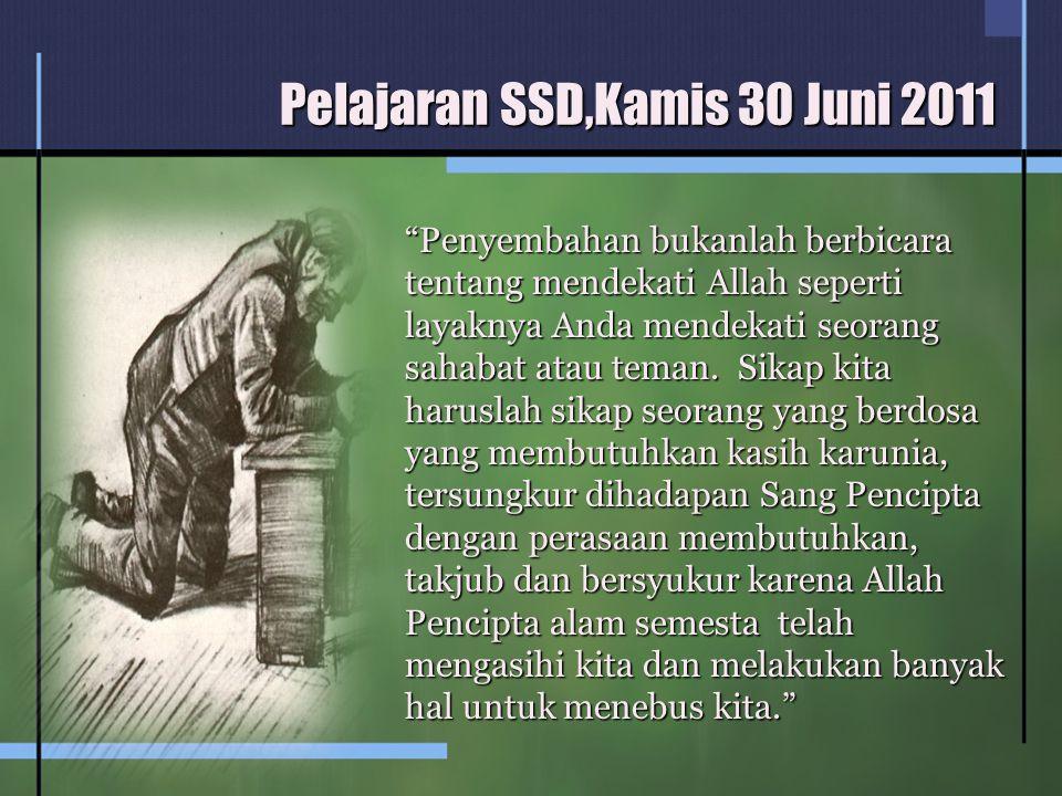 Pelajaran SSD,Kamis 30 Juni 2011