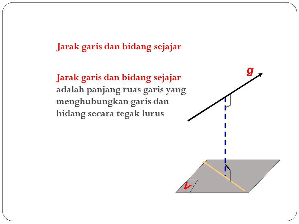 g Jarak garis dan bidang sejajar