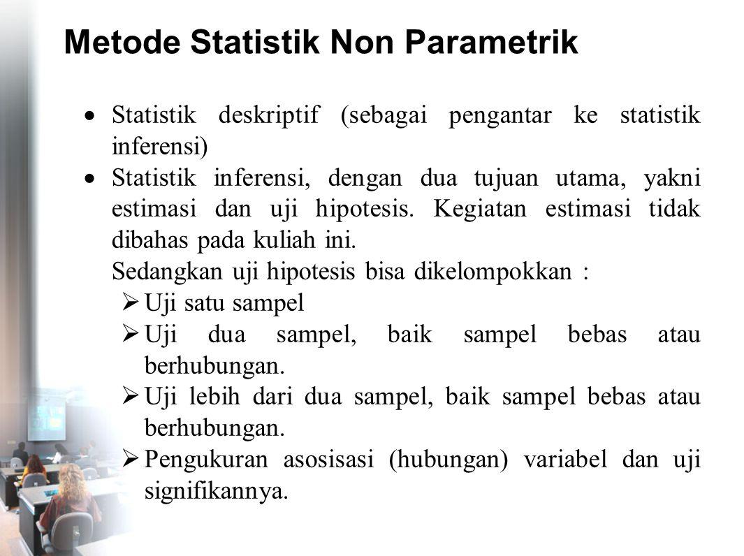 Metode Statistik Non Parametrik