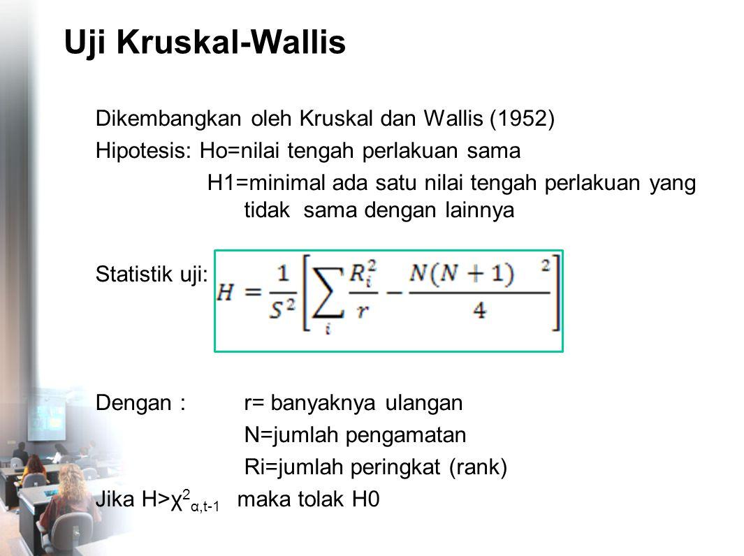 Uji Kruskal-Wallis