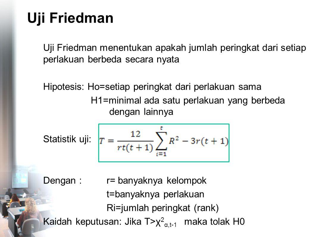 Uji Friedman