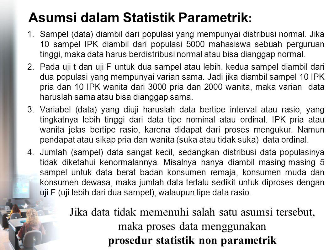 Asumsi dalam Statistik Parametrik: