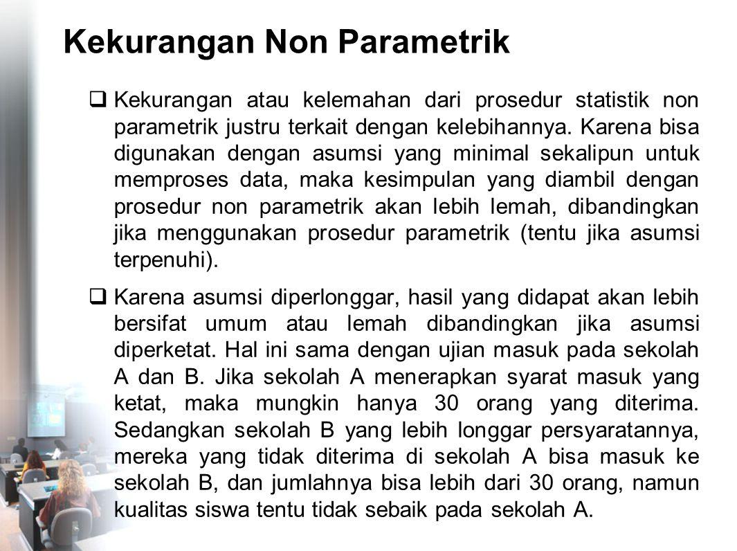Kekurangan Non Parametrik