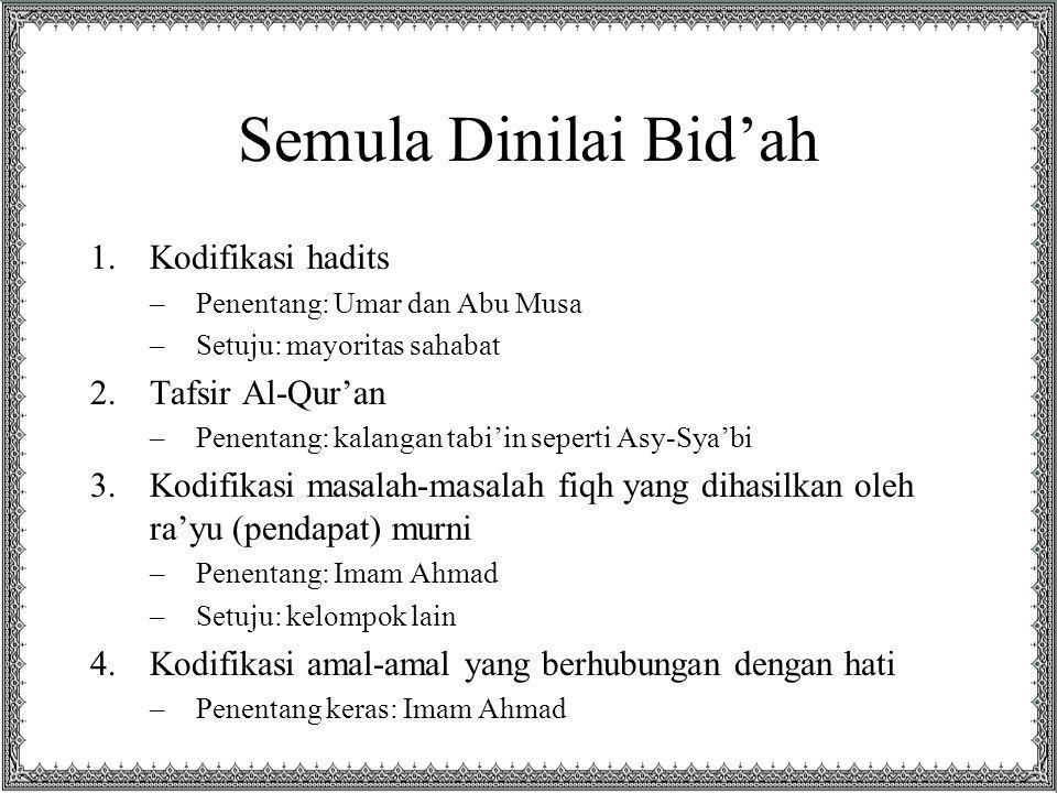 Semula Dinilai Bid'ah Kodifikasi hadits Tafsir Al-Qur'an