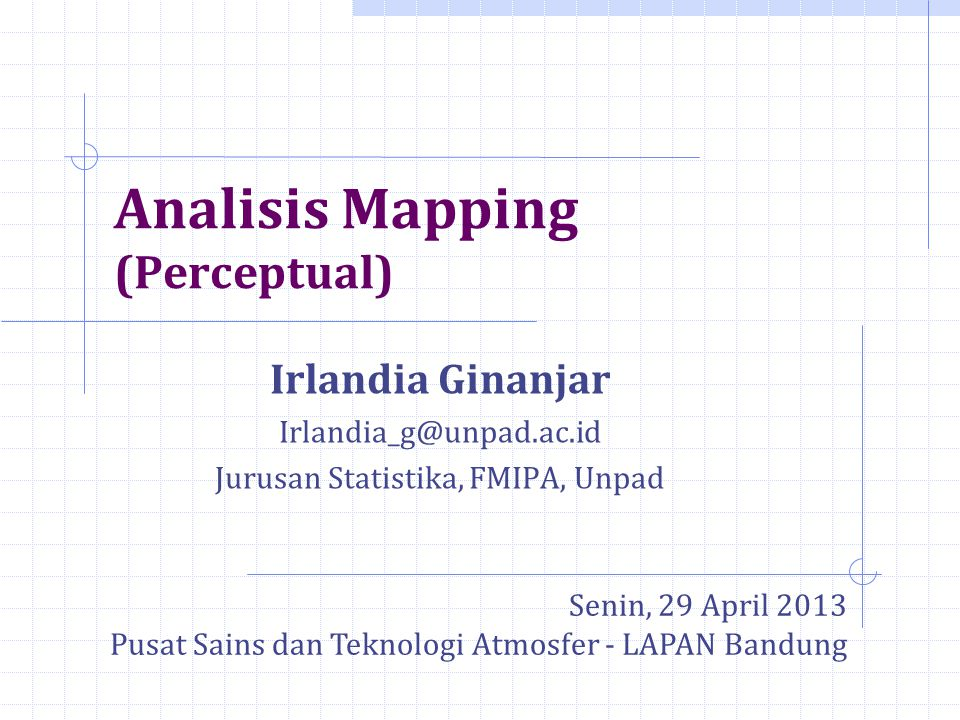 Analisis Mapping (Perceptual)