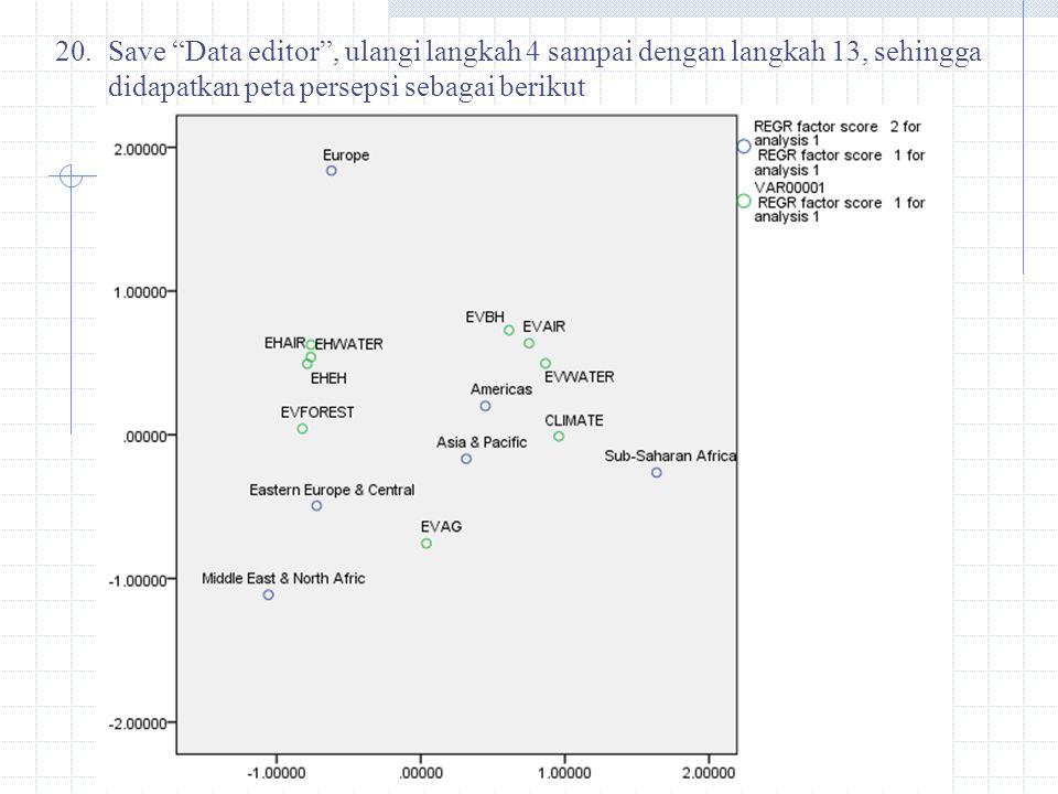Save Data editor , ulangi langkah 4 sampai dengan langkah 13, sehingga didapatkan peta persepsi sebagai berikut