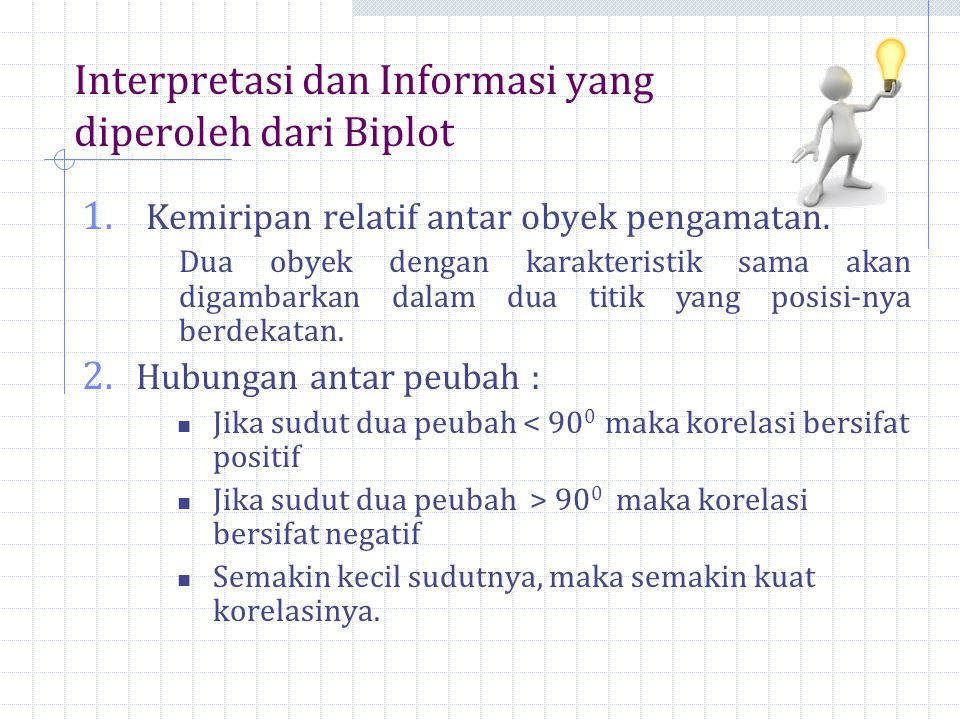 Interpretasi dan Informasi yang diperoleh dari Biplot