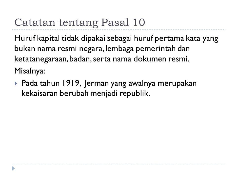Catatan tentang Pasal 10