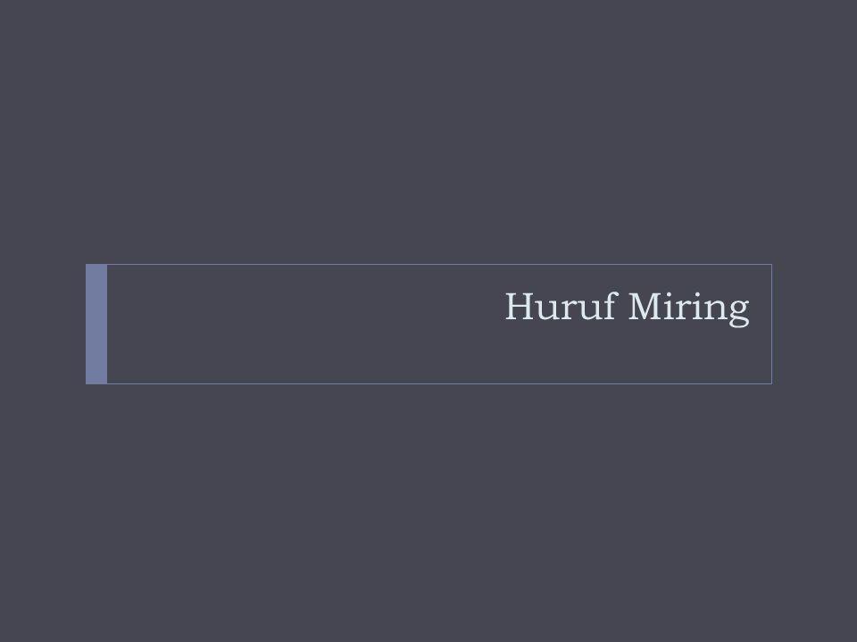 Huruf Miring