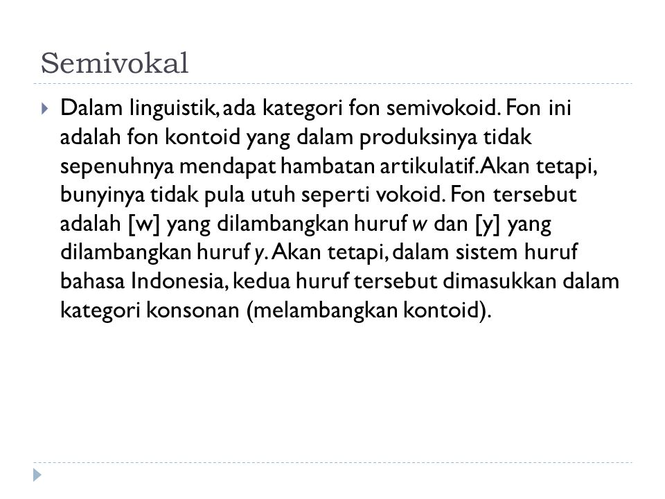 Semivokal