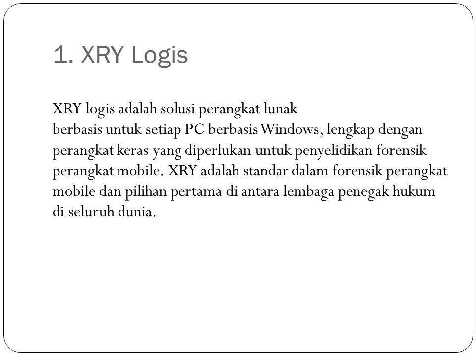 1. XRY Logis