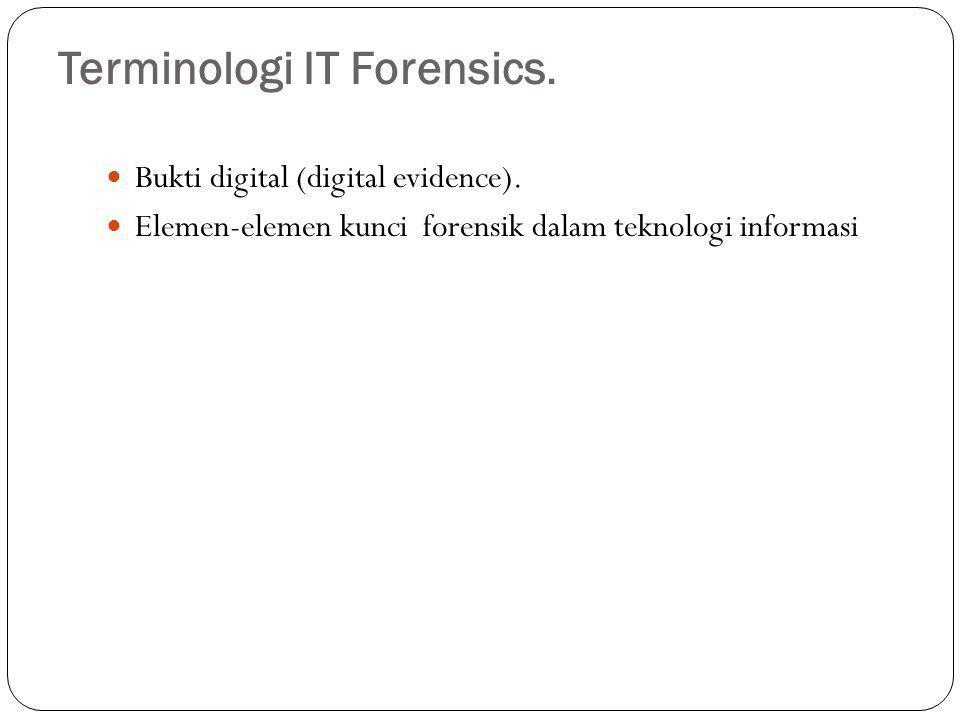 Terminologi IT Forensics.