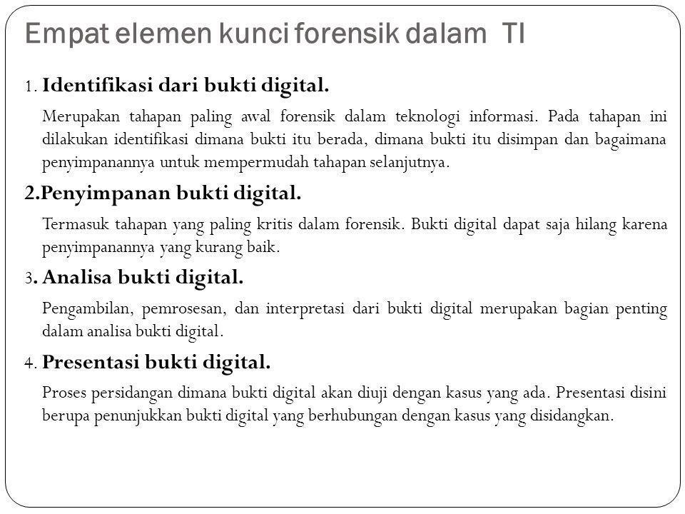 Empat elemen kunci forensik dalam TI