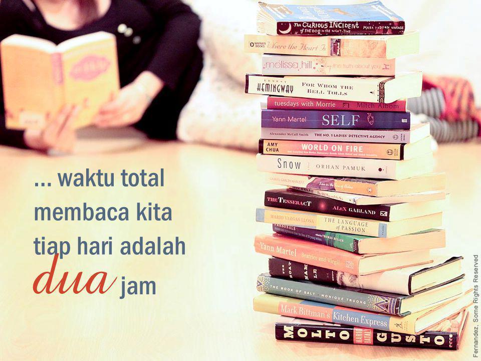 … waktu total membaca kita tiap hari adalah dua jam