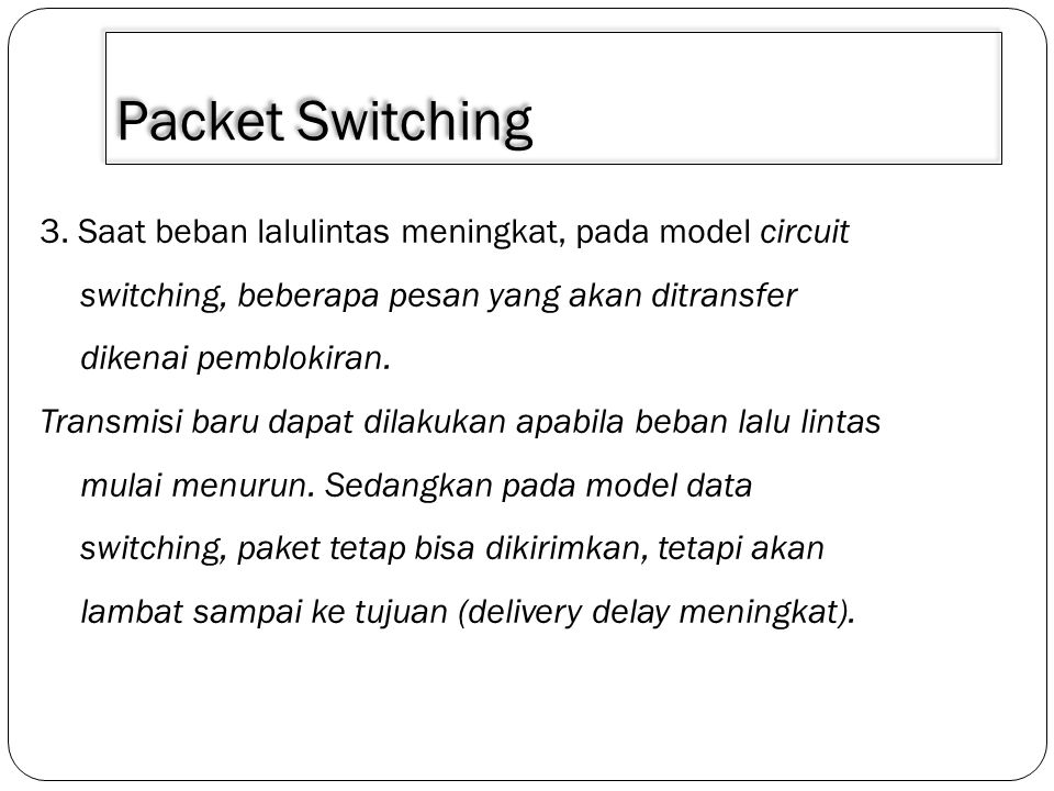 3/30/2011 Packet Switching.