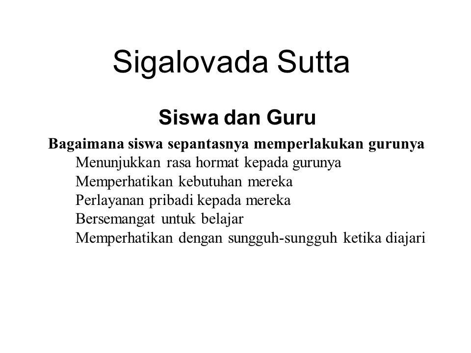 Sigalovada Sutta Siswa dan Guru