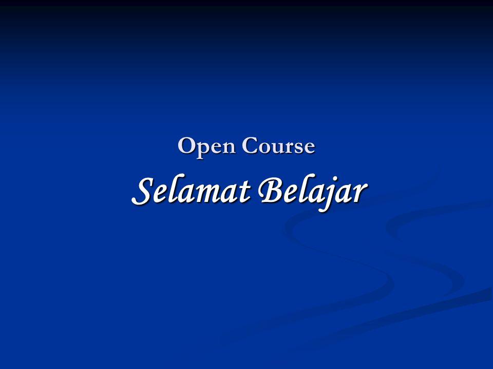 Open Course Selamat Belajar