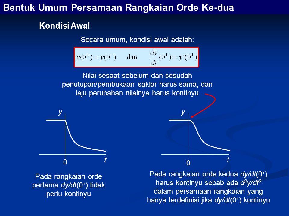 Bentuk Umum Persamaan Rangkaian Orde Ke-dua