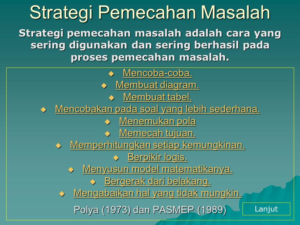 Strategi Pemecahan Masalah
