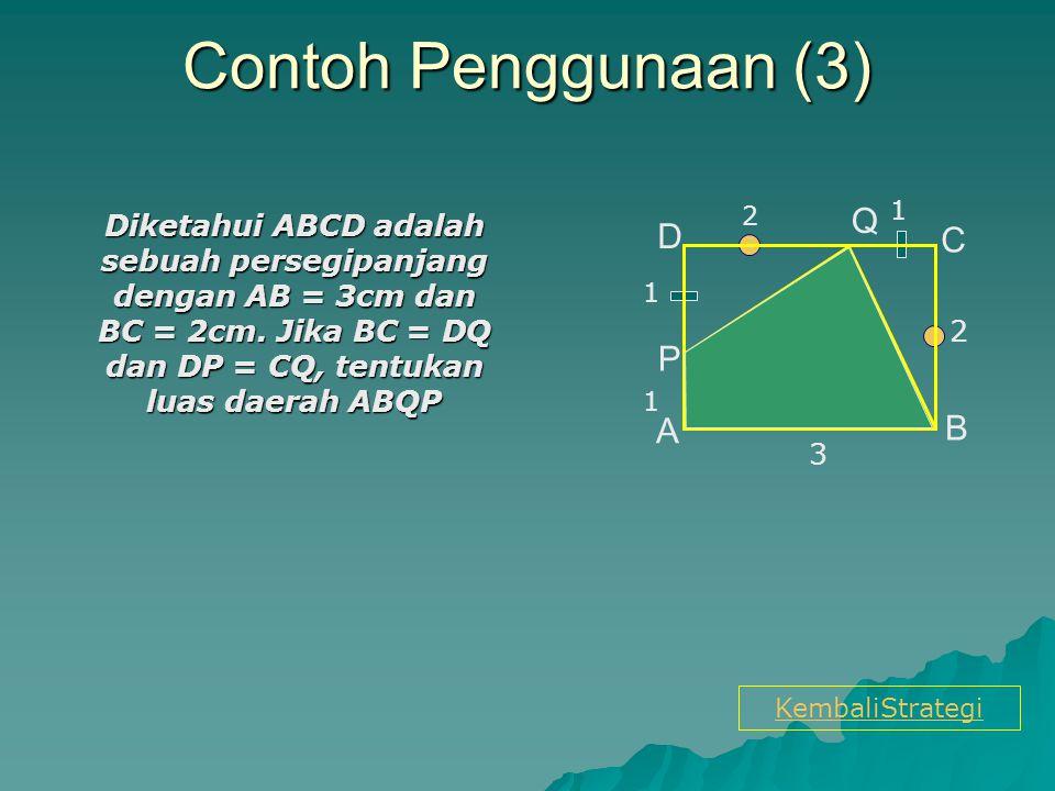 Contoh Penggunaan (3) Q D C P A B