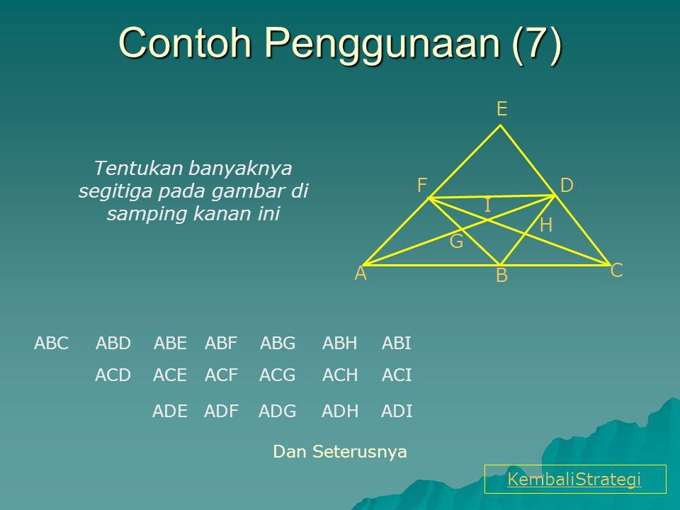 Tentukan banyaknya segitiga pada gambar di samping kanan ini