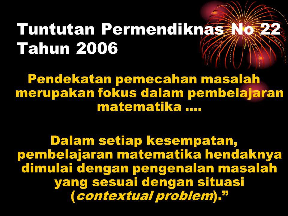 Tuntutan Permendiknas No 22 Tahun 2006
