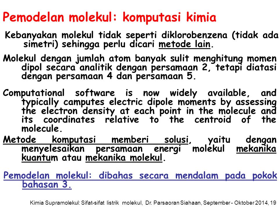 Pemodelan molekul: komputasi kimia