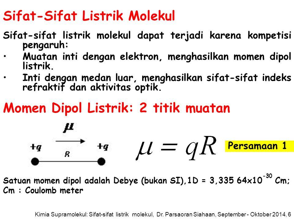 Sifat-Sifat Listrik Molekul
